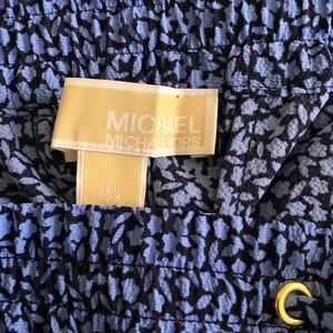 Michaels Kors Blue Patterned Pants Extra Large
